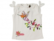 CATIMINI Sommer T-Shirt mit Applikationen Blanc