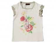 CATIMINI T-Shirt mit Rüschen Nacre