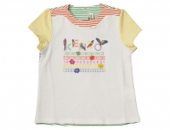 KENZO KIDS funny t-shirt for girls in white