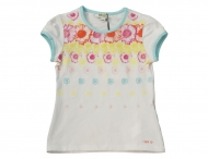 KENZO KIDS romantic white t-shirt for girls