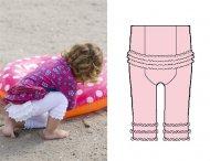 BONNIE DOON Baby Leggings Lace Back Rosa