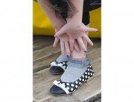 BONNIE DOON Ruffled Organza kurze Socken grau