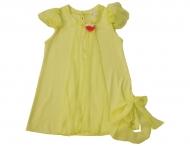 MISS GRANT Kleid mit 3D-Schleife in neon gelb