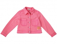 KENZO KIDS girls summer pink denim jacket