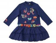 CATIMINI blaues Ballonkleid für Mädchen