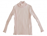 IL GUFO Girls Pink Cotton Long Sleeve Shirt