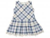I GIANBURRASCA kariertes Wollkleid für Mädchen