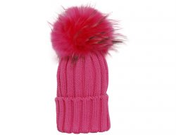CATYA Girls Pink Pompom Hat