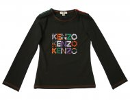 KENZO KIDS long sleeve shirt black for girls