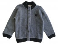 ARMANI JUNIOR coole Strickjacke mit Lederansatz