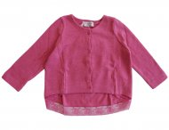MONNALISA Girls Pink Cardigan with Lace