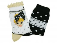 MONNALISA Girls White & Black Summer Socks Set