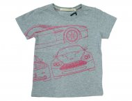ASTON MARTIN Sommer T-Shirt mit Print Grau
