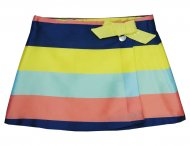 GF FERRE Girls Striped Skirt with Bow