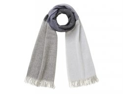 IL GUFO Blue & Gray Wool Winter Scarf