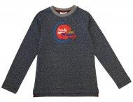 FENDI Jungen Langarmshirt mit Print Melange Blau