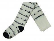 MONNALISA Strumpfhose mit Herzchen Weiß-Blau