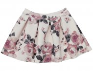MONNALISA Girls Pink Floral Neoprene Skirt