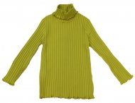 IL GUFO Girls Green Cotton Long Sleeve Shirt