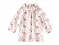 IL GUFO Girls Cream Blouse with Flower Pattern
