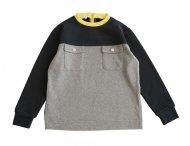MARNI Winter Sweatshirt für Mädchen Grau-Blau