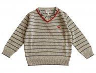 ARMANI JUNIOR gestreifter Pullover für Jungen Grau