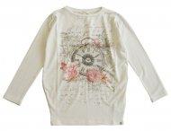 MISS GRANT Viskose Tunika mit Print Weiß