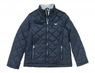 ARMANI JUNIOR Boys Navy Blue Jacket