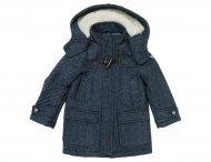 ARMANI JUNIOR Kapuzen Tweed Mantel für Jungen Blau