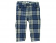 IL GUFO Baby Girls Blue & Gray Wool Pants