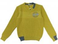 GF FERRE Pullover mit V-Ausschnitt Gelb