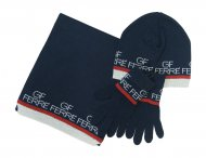 GF FERRE Boys Blue Hat with Scarf and Gloves