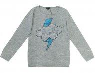 MISS GRANT warmer Pullover mit Glitzersteinen