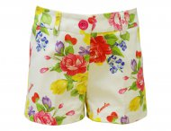 MONNALISA Girls Cotton Summer Shorts with Flower