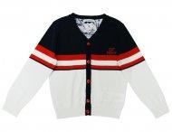 GF FERRE Sommer Cardigan Strickjacke Blau & Weiß