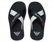 ARMANI JUNIOR Blue & White Beach Sandals