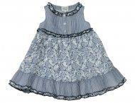 ARMANI JUNIOR Kleid mit Blumenprint in Weiß & Blau