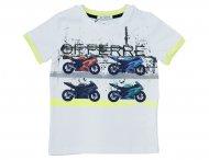 GF FERRE Sommer T-Shirt mit Vorderdruck in Weiß
