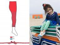 BONNIE DOON Candy Leggings Rot-Blau