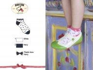BONNIE DOON Plastic Bow kurze Socken Weß-Blau