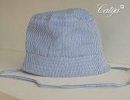 CATYA Sommerhut für Jungen Geringelt in Blau-Weiß
