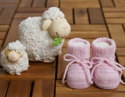 MINI CASHMINI Baby Pink Cashmere Socks Booties