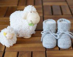 MINI CASHMINI Baby Grey Cashmere Socks Booties