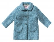 IL GUFO Girls Blue Wool Coat