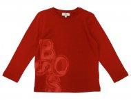 HUGO BOSS Kids Langarmshirt mit Logo Rot
