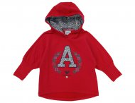 ARMANI JUNIOR Kapuzen Sweat-Tunika in Rot