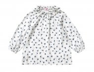 IL GUFO Girls White Tunic with Print Pattern