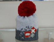REGINA Boys Grey Pom Pom Hat