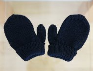 REGINA Navy Blue Wool Gloves