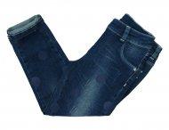 LU LU Jeans mit großen Tupfen in Blau